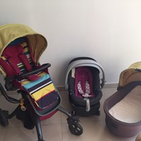 Used Complete Set Of Cot Plus Stroller Plus Car Seat Mylo By Mamas And papas in Dubai, UAE