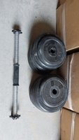 Used 50 kg Dumbbell set rubber plates in Dubai, UAE
