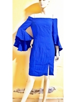 Used royal blue--offshoulder--mediumsize in Dubai, UAE