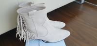 Used Zara brand new leather suede boots 40 in Dubai, UAE