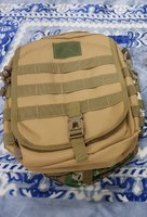 Used Sling Bag khaki color and tricolor 2pcs in Dubai, UAE