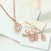 Used Rose Gold Color Jewelry Set  in Dubai, UAE