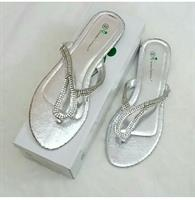 Flat Sandals Silver Color Available Size