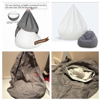 Used Bean bag cover 60-75 cm grey in Dubai, UAE