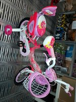Used 12 Inch Girls 2 seat Bike with sup wheel in Dubai, UAE