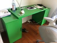 Used Computer table green 120by60 in Dubai, UAE