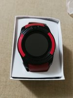 New red smart watch