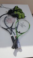 Used 3Tennis rackets plus 12Tennisballs in Dubai, UAE