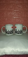 Used Couple Mug Habibi ❤️ Habibti in Dubai, UAE