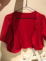 Short jacket/Top red size XL(asian)