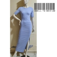 Used Long blue short dress-small to medium in Dubai, UAE