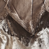 Used Velvet laced top from Ralph Loren. Taupe in Dubai, UAE