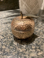 Used Bronze Apple shaped scented candle  in Dubai, UAE