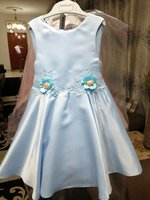 Used Dress for girl 4 years. Light blue. in Dubai, UAE