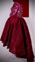 Used Thaher Bride Maroon Low-High Maroon Gown in Dubai, UAE
