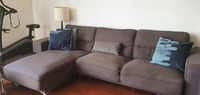 Used L shaped sofa with extra couch in Dubai, UAE