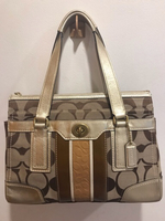 Used Authentic coach bag, nude/brown color  in Dubai, UAE