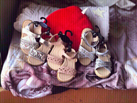 Used 3 New girls branded sandals👡with tags🏷 in Dubai, UAE