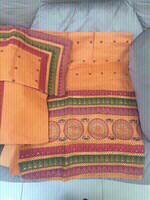 Cotton Embroidered 3 Pieces suit