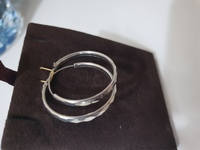 925 Silver Italy Earing..New