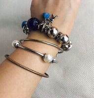 Used Bangles/ Charm 4 PCs +1 Free 💙 in Dubai, UAE