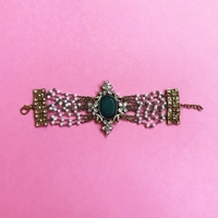 Used Bracelet with Green Stone and Crystals in Dubai, UAE