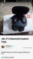 Used JBL p12 Bluetooth headset copy in Dubai, UAE