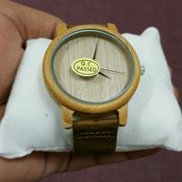 Bamboo Wooden Wristwatch With Genuine Leather band