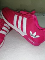 Used Adidas shoes pink and white size 42 - 43 in Dubai, UAE