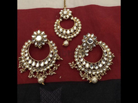 Used pure kundan gold plated earpiece  in Dubai, UAE