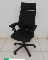 Used Office chair brand new black pvc in Dubai, UAE