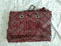 Gorgeous leather bag with chain