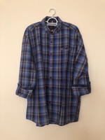 NEW Men's Plaid Long Sleeve Shirt L