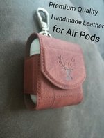 Used Premium Leather Cover for Airpods ❗ 2pcs in Dubai, UAE