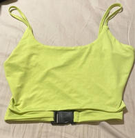 Used BRAND NEW buckle front neon tank top in Dubai, UAE