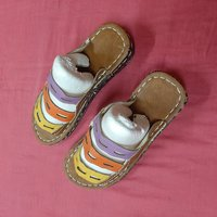 Used Tri color Women's sandals, 37 size in Dubai, UAE