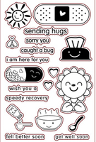 "Used SENDING HUGS GET WELL SOON"" clear stamp"" in Dubai, UAE"