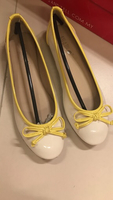 Used Yellow and white shoes EU36 NEW in Dubai, UAE