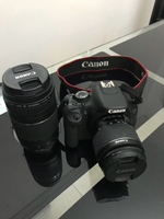 Used Canon DSLR EOS 600D + two lenses in Dubai, UAE
