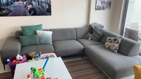 Used 1 L shape grey sofa great condition in Dubai, UAE