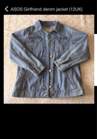 Used ASOS Girlfriend denim jacket 12UK read👇 in Dubai, UAE