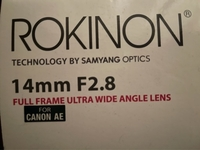 Used ROKINON 14 mm UW f2.8 with canon chip in Dubai, UAE