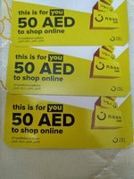 Used 3 of 50 AED Noon vouchers in Dubai, UAE