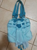 Ladies blue handbag