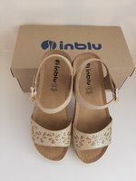 Used Original Inblue Wedge Sandals EU38 in Dubai, UAE