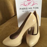 Authentic #Paris Hilton Beige Heels (New)