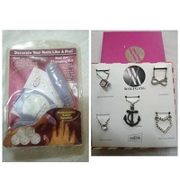 Used Salon Nail Stamping Kit & 5 Necklaces in Dubai, UAE