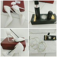 Used White Big Tree heels with free bangles in Dubai, UAE