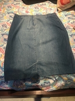Used Denim skirt. 16/18. New and flawless  in Dubai, UAE