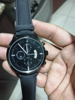 Used Men's watch simple black in Dubai, UAE